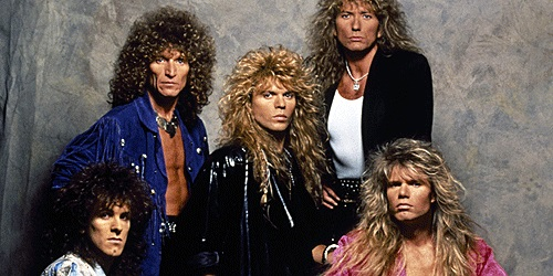 Whitesnake in the mid to late 1980s fluffy poodle hair David Coverdale